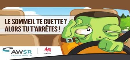 02/02 - Communiqué de presse : AWSR - Somnolence au volant : nouvelle campagne de sensibilisation !