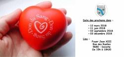 19/11 - Don de sang : prochaines dates de collecte