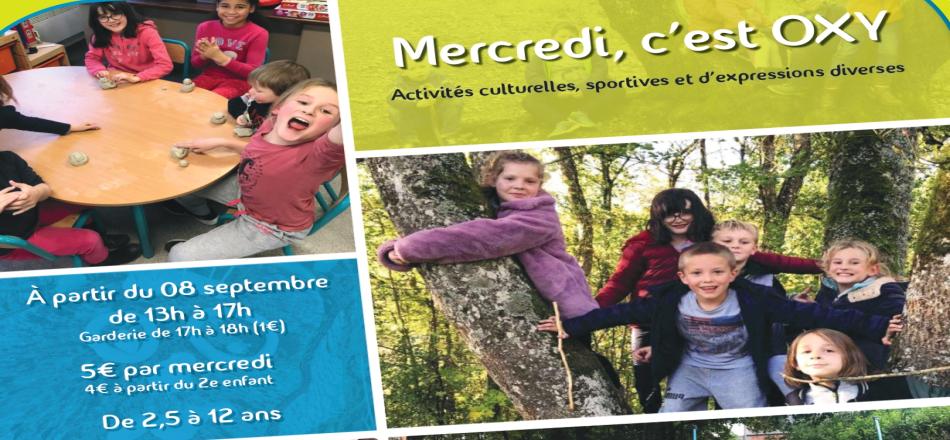 07/09 - Mercredi, C'est OXY : Modules d'ateliers ludiques et créatifs...C'est reparti !!