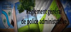 08/02 - Réglement général de police administrative 2018 : Arrêté de publication
