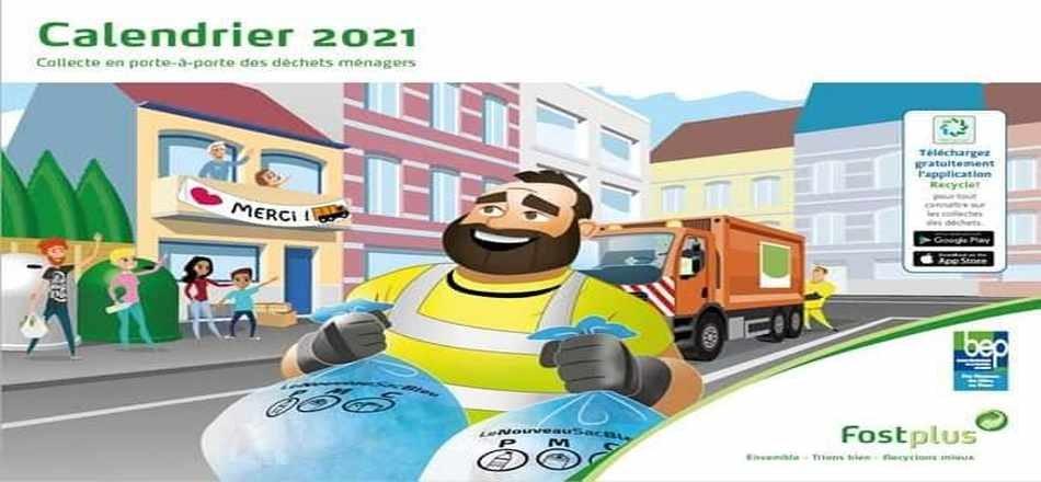08/12 - Le Calendrier des Collectes 2021 arrive dans votre boîte aux lettres...