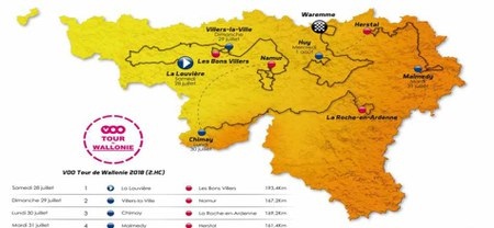 09/06 - Tour de Wallonie 2018 : Passage à Doische lors de l'étape du 30 juillet : Chimay - La Roche-en-Ardenne