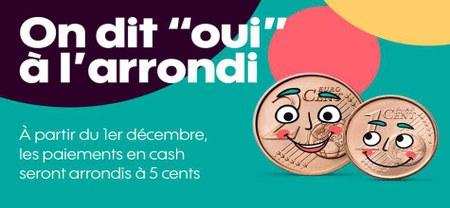 09/12 - Depuis 1er décembre, on dit OUI à l'arrondi...!