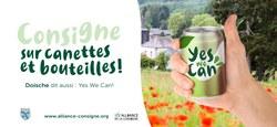 """12/07 - Notre Commune a rejoint l'Alliance pour la Consigne et la Campagne """"Yes, we can !"""""""