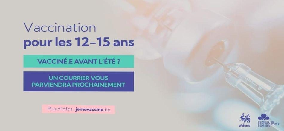 12/07 - Vaccination des enfants de 12 à 15 ans contre le Covid-19 : les invitations sont lancées