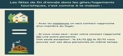 20/12 - Coronavirus/Informations : Occupation de gîtes à l'approche des fêtes et congés de fin d'année