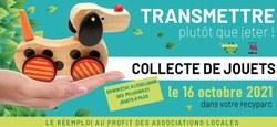 19/09 - Collecte de jouets dans les Recyparcs : le samedi 16 octobre 2021