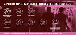 22/08 - Coronavirus/Informations - Comité de concertation du 20 août 2021 : levée de nombreuses restrictions dès le 1er septembre