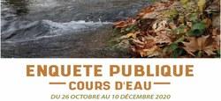 28/10 - Avis d'enquête publique relatif à une gestion intégrée, équilibrée et durable des cours d'eau wallons