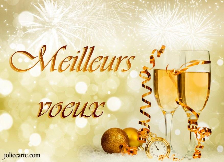 meilleurs voeux champagne