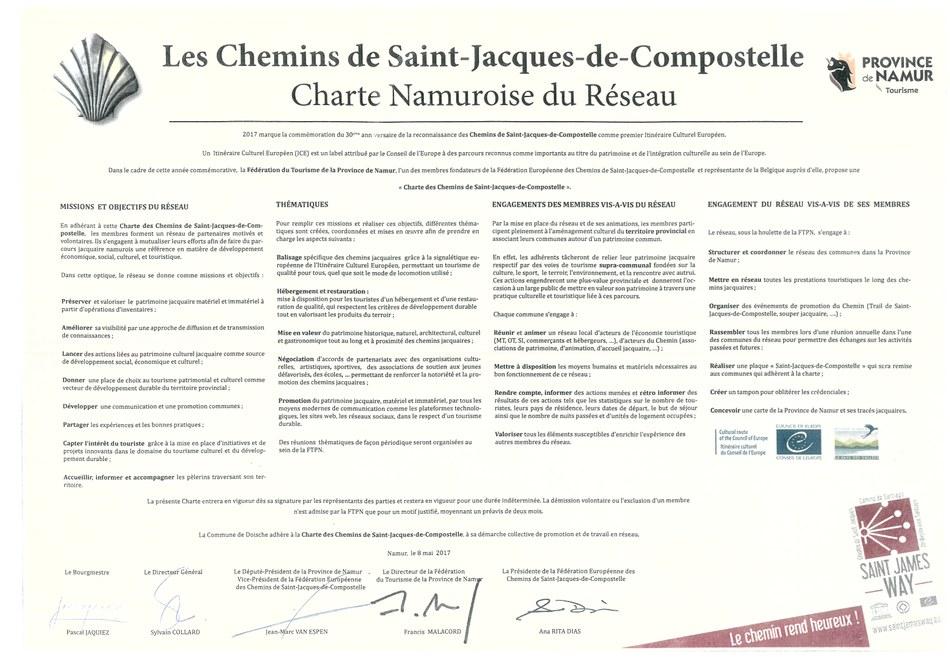 La Charte d'adhésion