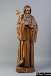 Trésor de St Hilaire 3 - Statue St Benoît