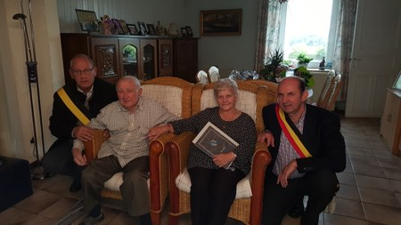 Noces d'Or, de Diamant et de Palissandre 2016 : Mr et Mme Marcel Gillain-Lannoy