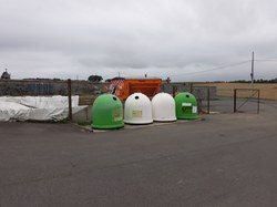 Travaux d'amélioration du site des bulles à verres de Doische