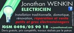 Jonathan Wenkin, Electricien