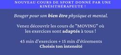 """""""Moving"""" : Nouveau cours de sport donné par une kinésithérapeute"""