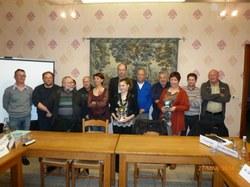 Les lauréats 2014 entourés par les membres du Conseil communal