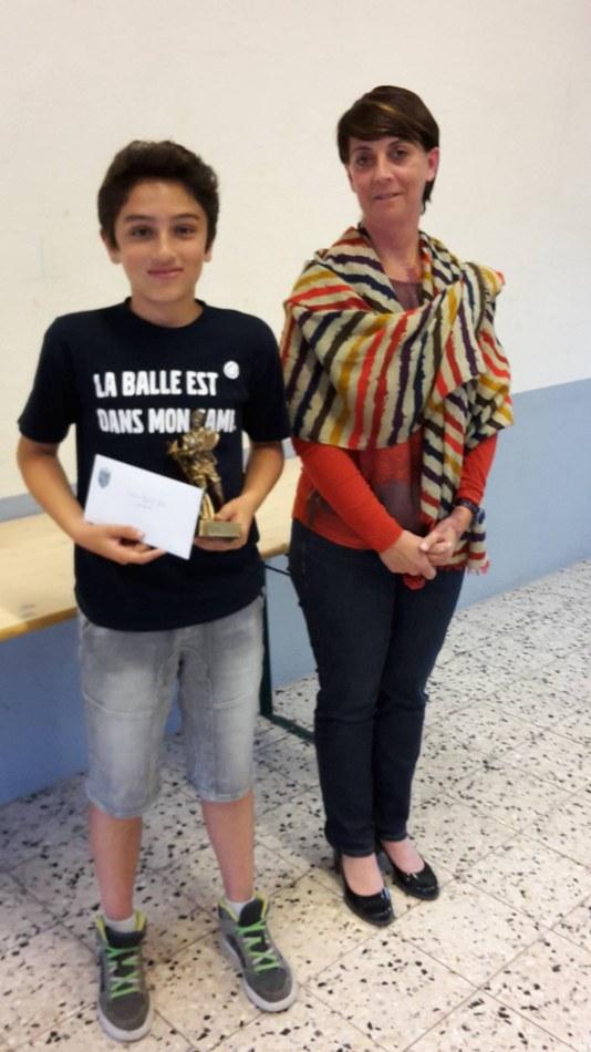 Matthys Taouransaid, Mérite sportif individuel 2015 (Tennis)