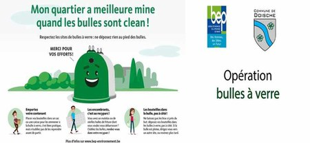 17/04 - Campagne de sensibilisation relative à la propreté autour des bulles à verre...