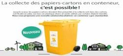 05/01 - A Doische, la collecte des papiers-cartons en conteneur, c'est désormais possible !