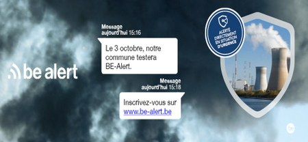 12/09 - Test national BE-Alert du 3 octobre 2019 : notre Commune participe...!