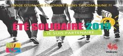 03/04 - Eté solidaire 2019 : l'appel aux candidatures est lancé